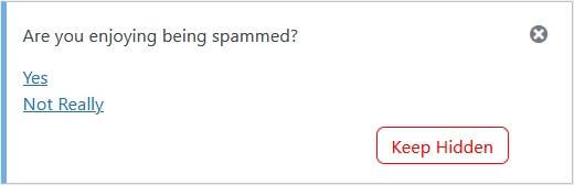 notification control hide plugin spam stop-spammers